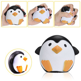 Wholesale Cell Phone Strap Bread - Squishy Penguin Male 12cm Slow Rising Toy Bread Relieve Stress Cake Kawaii Animal Cell Phone Strap Phone Pendant Key Chain Toy Gift