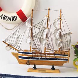 Modelo de vela online-Paño de moda Modelo de velero Decoración del hogar Antiguo Imitación Hecho a mano Barco de vela Estilo mediterráneo Artes y artesanía Decoración del hogar