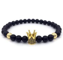 Nouvelle Marque De Mode Impériale Couronne Charme Bracelet Hommes Pierre Perles Pour Femmes Hommes Bijoux Cadeau Pulsera Hombres ? partir de fabricateur
