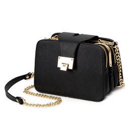 Wholesale Buckle Messenger Bags - 2017 Spring New Fashion Women Shoulder Bag Chain Strap Flap Designer Handbags Clutch Bag Messenger With Metal Buckle #09Sh31 9-2