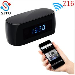 Wholesale Ip Electronics - Z16 1080P Night Vision Wireless WIFI Electronic Clock Camera IP Remotely Monitor P2P CCTV Cam for Home Security mini camera