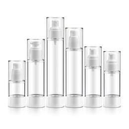 Kosmetische plastikpumpenflaschen online-Leere kosmetische Plastikflasche nachfüllbare tragbare Minireise-Parfümflasche Airless-Pumpen-Vakuumflüssigkeits-Flaschen 15ML 30ML 50ML