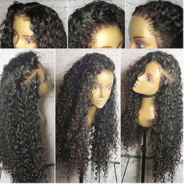 Wholesale Kinky Hair Sale - Top Sale High Quality Black Long Kinky Curly Wigs with Baby Hair Heat Resistant Glueless Synthetic Lace Front Wigs for Black Women