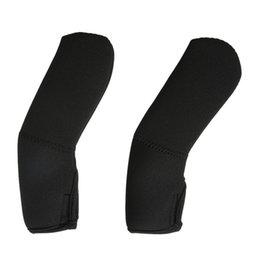 Wholesale neoprene handles - 2pcs set Black Neoprene Baby Stroller Grip Cover Carriages Poussette Handle Protector Cover Baby Stroller Accessories