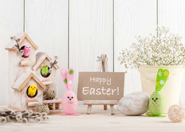Wholesale Photography Backdrop Indoor - 7x5ft Vinyl Digital Indoor Easter Eggs Decoration Kids Children Happy Easter Backdrop Photography Props Studio Background