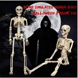 2019 perline di vaso di vaso Commerci all'ingrosso !! Posable Skeleton Halloween Decor Scary Man Bone Creepy Party Decoration Colorful felice festa decorazione fai da te