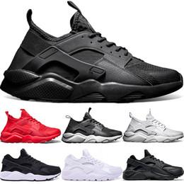 best sneakers d810e f90f2 Nike Air Huarache Ultra Laufschuhe 4,0 1,0 Männer Frauen Triple Weiß Core  Schwarz Rot Huaraches Laufen Billig Mens Sport Sneaker Größe 36-45 rabatt  weiße ...
