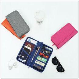 Wholesale Credit Card Storage - Multifunction Fashion Travel Passport Holder Credit ID Card Holder Cash Wallet Organizer Storage Bag Purse Wallet CCA8963 50pcs