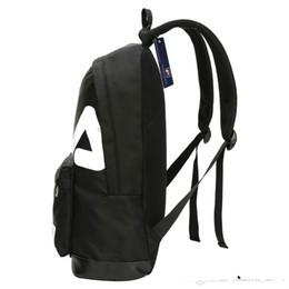 FI LA   Boy   Girls  Student School Bag Teenagers Backpack Casual Travel  Backpacks Adult Outdoor Sports Bags 3 Colors d694e6919a00d