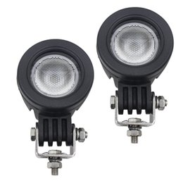 Wholesale Led Spot Lights For Motorcycles - Led Flood Driving Lights,10W Mini Round Tail Cree Fog Lamp for Bicycle Motorcycle(2pcs 10w Flood)