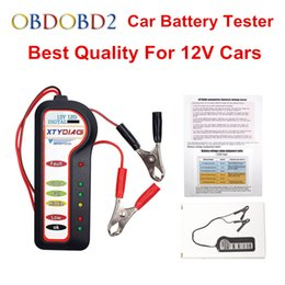 Wholesale voltage tester free ship - Best Quality 12V Car Battery Tester with 6 LED Lights For 12V Car Motorcycle Auto Voltage Tester Battery Analyzer Free Shipping
