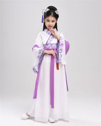 Wholesale costume national dresses - 2017 autumn girl ancient chinese traditional national costume hanfu dress princess children hanfu dresses cosplay clothing girls