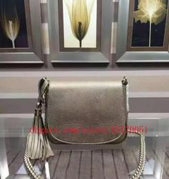 Nouveau véritable en cuir Femmes messenger sacs de haute qualité sac à bandoulière mini chaîne en cuir véritable sac de selle avec gland 323190 ? partir de fabricateur
