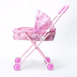 Cochecitos de muñecas online-Los cochecitos de muñecas se adaptan a una muñeca americana de 14 pulgadas Muñeca Wellie Wishers Muñeca de una niña estadounidense de 18 pulgadas {Solo vender carritos de bebé}