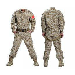 Uniforme del ejército camo online-Camisa táctica uniforme del ejército + pantalones Camo camuflaje ACU Combat Uniform Combat Hunting traje de la ropa de los hombres