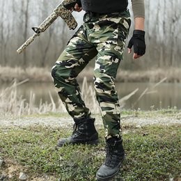 Wholesale Hunting Pants For Men - Tactical Cargo Outdoor Pants Men Combat Army Training Tatico Pants Hiking Hunting Outdoors Sport Camouflage Trousers For Men