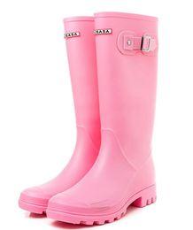 2019 zapatos de la boda de raso de marfil vuelos 2018 NUEVAS mujeres RAINBOOTS moda Hasta la rodilla botas altas de lluvia botas impermeables welly botas de goma botas de agua zapatos de lluvia zapatos de lluvia 87510