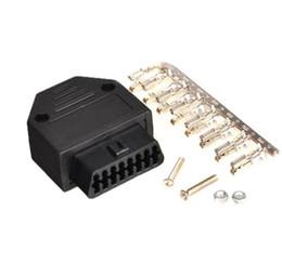Jogo do adaptador do conector fêmea de OBD2 OBDII 16Pin com as ferramentas diagnósticas dos parafusos de Fornecedores de chips bluetooth por atacado