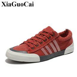 Wholesale resistant shoes - Classic Canvas Shoes Men Casual Shoes Comfortable Round Toe Lace-up Flat Shoes Fashion Breathable Wear-resistant Shoe H509 35