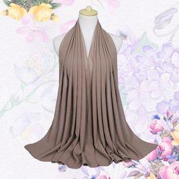 2019 modelos abaya 20 cores Hijab Muçulmano Das Mulheres Hijab Ninja Underscarf Cabeça Islâmica Capa Cap Boné Chapéu Cachecol 180 cm de Comprimento Chiffon Cachecol