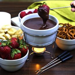 2019 madeira de chocolate 12 pc Aço Inoxidável Fondue De Chocolate Ferramentas de Mergulho Fruit Forks Grip Madeira 10 'Buffet de Queijo Sorvete Marshmallo Varas madeira de chocolate barato