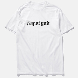 Maglietta di strada online-T-shirt Hi-street Summer Fear of God Nero Grigio Manica corta T-shirt Hip Hop Taglie forti M-3XL