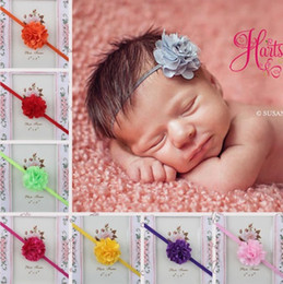 piezas de cabeza de flor de bebé Rebajas Baby Girls Headbands Mix Lace Mesh flower bebés Diademas Infant Toddler Hair Band Accesorios Head Piece Accesorios para el Cabello Headwear KHA71