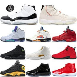 Canada Nouveau 5 5s International Chaussures de Basketball Taureaux 12s Platine Teinte Concord 11s Black Cat 13s Fresh Prince Hommes Sport Sneakers 7-13 cheap black mens basketball shoes Offre