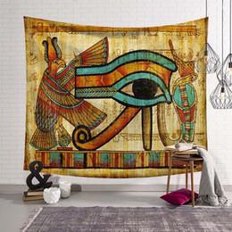 Decoração egípcia on-line-1 Pcs O Olho De Horus Tapeçaria De Parede Egípcio Decoração Pano De Parede Têxtil De Casa Tapeçarias Para Casa Arte