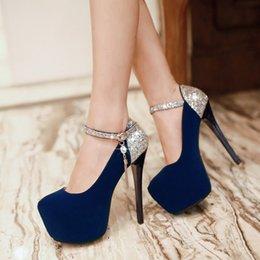 Модельер блестками черные каблуки для женщин платье обувь дешевые круглые пальцы 13 см шпильках насосы плюс размер кисточки сандалии от