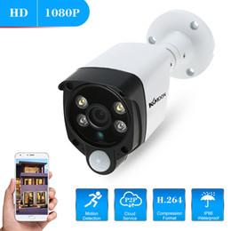 Wholesale ip functions - KKmoon 2.0MP IP Camera Wifi 1080P PIR Function Alarm Sound IR Waterproof Wireless CCTV Outdoor Security Camera Motion Detection