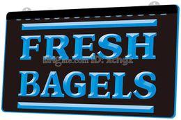 [F1113] Fresh-Bagels-Shop НОВЫЙ 3D-гравировальный светодиодный световой знак Настроить по требованию 8 цветов от Поставщики светодиодный световой сигнал
