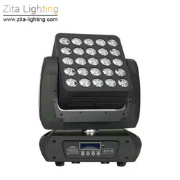 Quad cree on-line-Zita Lighting Magic Matri LED 25X12W Quad Cree Moving Head RGBW Wash Stage Equipment Private Party Event Light Effect
