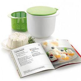 Cozinha saudável on-line-Realand rápido simples e saudável de microondas diy plástico silicone fabricante de queijo de microondas queijos frescos fazendo gadget ferramenta de cozinha