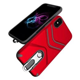 Wholesale Iphone Holder Lanyard - Hybrid Armor Case with Ring Holder Stand Lanyard CellPhone Cover for iPhone X 8 7 Plus Samsung J7 Pro EU 2017 Retail