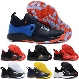 Wholesale Embroidered Tops For Women - 2018 High quality Paul George 2 PG II Basketball Shoes for Cheap top PG2 2S Starry Blue Orange All White Black Sports Sneakers Size 40-46