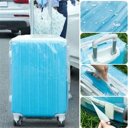 staubdichte abdeckung Rabatt PVC Transparent Reisegepäck-Schutz-Koffer-Abdeckungs-Beutel Staubdicht Wasserdicht