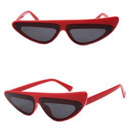 8e3e161c61b 2018 Cool Vintage Cat Eye Sunglasses Asymmetry Frame Candy Frame And Lenses  Metal Hinge UV400 8 Colors Fashion Sun Glasses Wholesale Glasses