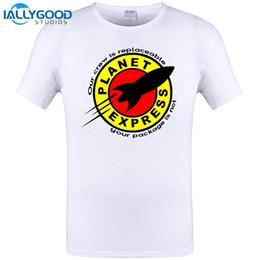 Vêtements express occasionnels en Ligne-2018 Mode Nouveaux Hommes T-Shirt Cool Impression Personnalisée Planet Express T Shirt Coton Manches Courtes T-shirts Tees Vêtements Décontractés 6XL