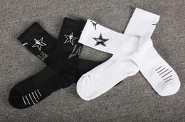 Tubo de baloncesto online-LA2018 estilo estrella equipo equipo de Los Angeles calcetines de los hombres profesional tubo largo de rizo de baloncesto calcetines gruesos toalla toalla inferior calcetines de élite