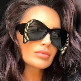 Wholesale Party Shade Glasses - funny glasses 2018 oversize black sunglasses designer woman glasses new trendy big acetate sunglasses ladies female party shades for mens