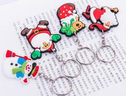 2019 saco de silicone coreano Chaveiro de Natal Dos Desenhos Animados Chaveiro Coreano Moda Bonito Engraçado Natal Snown Tree Socks Criatividade Chave Titular Saco Pingente Chaveiro desconto saco de silicone coreano