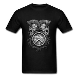 Wholesale New Helmet Summer - XXXL Summer T Shirts Spartan Helmets Round Neck Cotton Short Sleeve Funny T-Shirt New Arrival Men's Shirt
