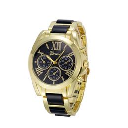 2019 relógio de pulseira chapeada Essencial Relógios De Pulso Pulseira Pulseira Relógios Mulheres Numeral Romano Banhado A Ouro De Metal / Nylon Link Presente Sep29 relógio de pulseira chapeada barato