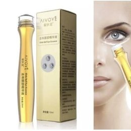 Wholesale Cream Serum - 24K Golden Collagen Eye Cream Slide Ball Eye Essence Revitalizing Serum Remove Dark Circle Pouch Moisturizing Eye Care CCA8614 120pcs