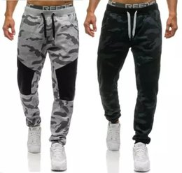 Wholesale Xxl Sweatpants - Men Casual Pants 2018 Male Brand Straight Trousers Camouflage Long Pants Cotton Sweatpants Jogger Tracksuit Funky Sweatpants XXL