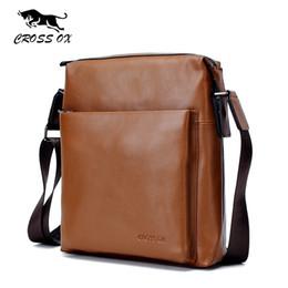 CROSS OX Genuine Leather Messenger Bags For Men Cowhide Leather Men s Bag  Shoulder Bag Cross Body Bags iPad Holder SL369M f02bfc4001e9b
