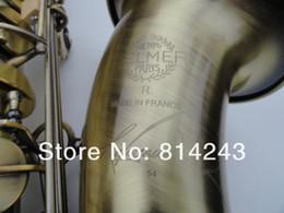 Wholesale Case Bb - Henri Selmer Bb Tenor Saxophone Drop B Brass Saxophone Instruments Reference 54 Unique Bronze Sax Musical Instruments With Case Mouthpiece