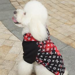 Welpen kapuzenpullis online-Brand Design Hund Hoodies Haustier Lässige Kleidung Cute Teddy Welpen Schnauzer Bekleidung Herbst Winter Outwears Kleine Haustier Hund Hip Hop Sweatshirts
