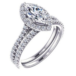 Wholesale Diamond Halo - 2.08 Ct. Marquise Cut Halo Diamond Engagement Ring Micro Pave GIA Certified SI1